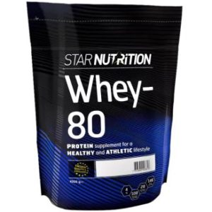 Bästa proteinpulvret. Whey-80.