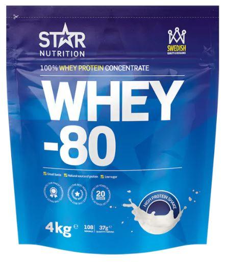 Whey-80 av Star Nutrition bästa proteinpulvret 2018